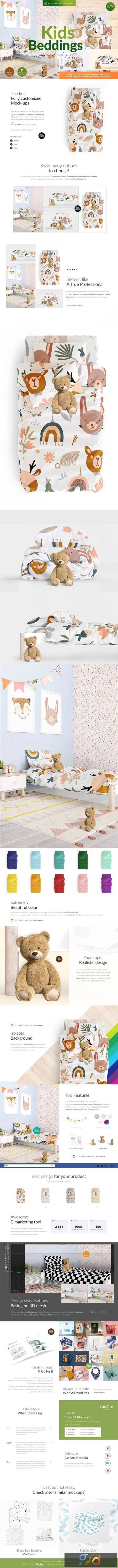 Kids Beddings Mock-ups Set on 3D 5579996 1