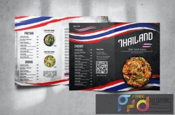 Bifold Food Menu Design A4 & US Letter N47Y5CD 12