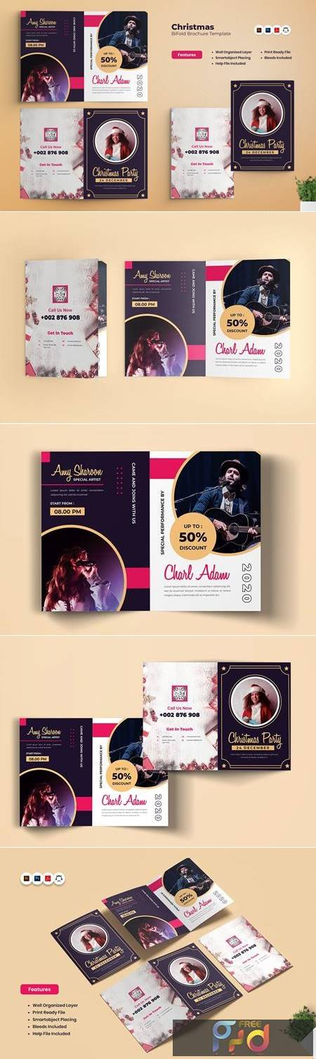 Christmas Party Bifold Brochure ZLARANJ 1