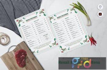 Henail Restaurant Menu 87GD26P 3