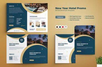 New Year Hotel Promo Bi-fold Brochure PT955DM 15