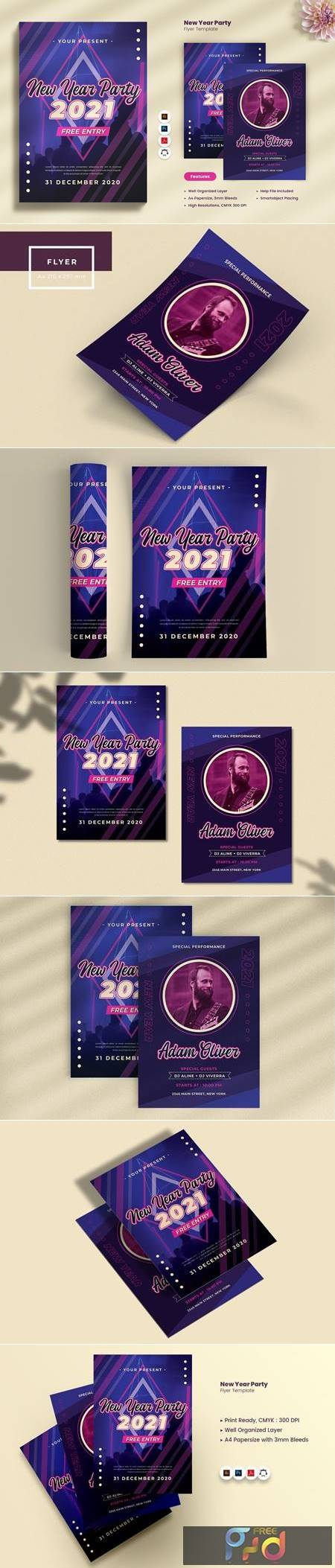 New Year Party 2021 Flyer P3S742Q 1