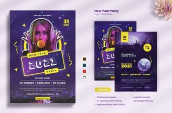 New Year Party Flyer CKP2PBN 13