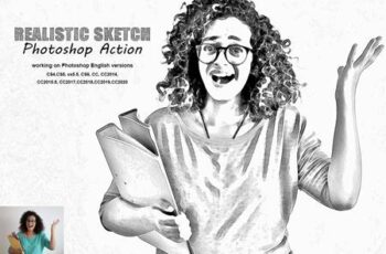 Realistic Sketch Photoshop Action 5378308 5