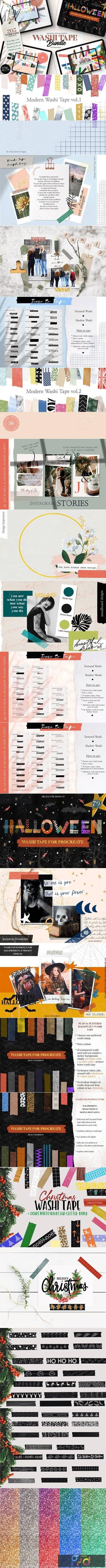 205 Washi Tape Bundle for Procreate 5489982 1