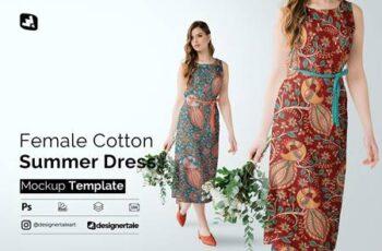 Female Cotton Summer Dress Mockup 5097495 6