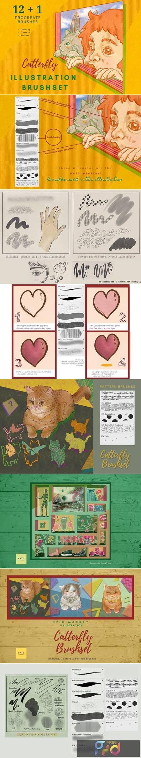 Procreate Illustration Brushes Vol 1 5503319 1