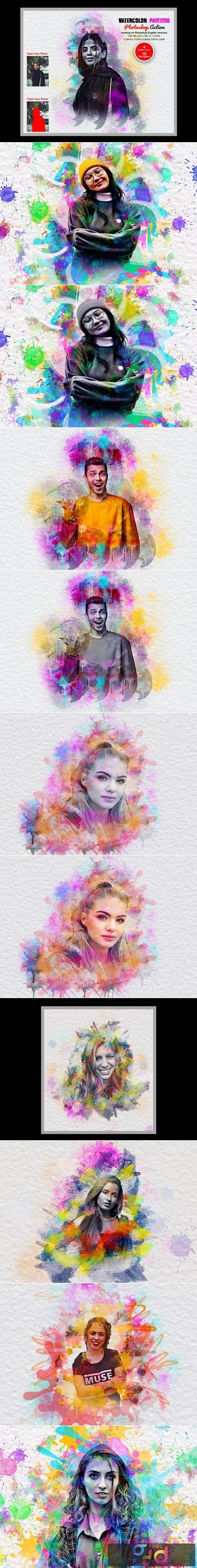 Watercolor Painting Photoshop Action 5641193 1