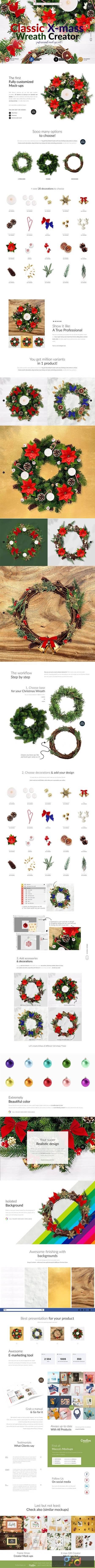 3x Christmass Wreath Creator Mock-up 5708215 1