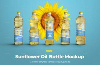 Mockups Plastic Sunflower Oil Bottles 29741146 6
