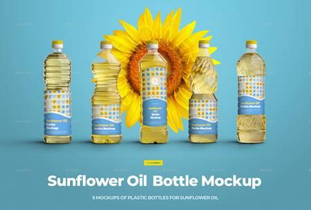 Download Mockups Plastic Sunflower Oil Bottles 29741146 - FreePSDvn Free Mockups