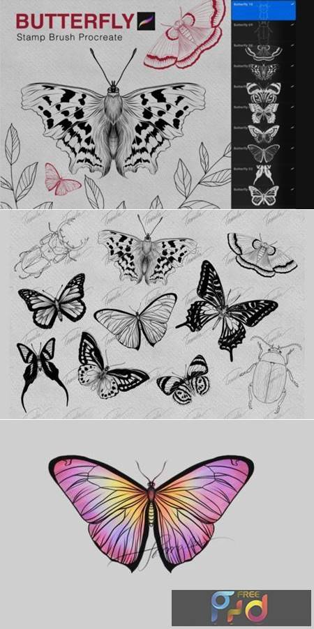 Butterfly Procreate Stamps Brush 7175257 1