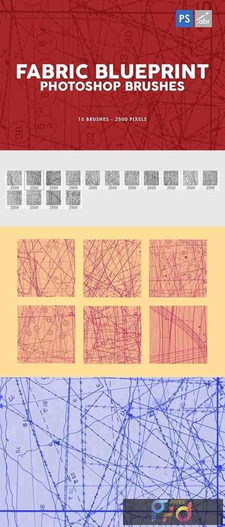 15 Fabric Blueprint Texture Photoshop Stamp Brushes 29575459 1