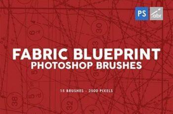 15 Fabric Blueprint Texture Photoshop Stamp Brushes 29575459 5