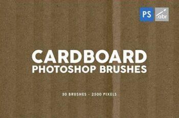 30 Cardboard Photoshop Brushes Vol.1 29575481 7
