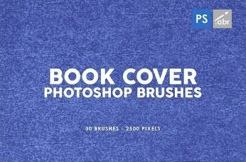 30 Retro Book Cover Photoshop Stamp Brushes 29575815 7