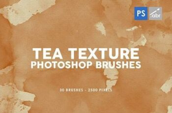 30 Tea Texture Photoshop Stamp Brushes 29575842 5