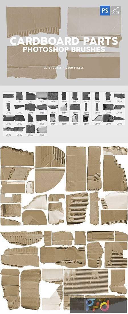 37 Damaged Cardboard Parts Photoshop Stamp Brushes 29575867 1