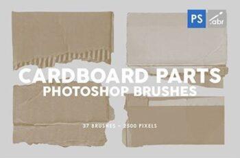 37 Damaged Cardboard Parts Photoshop Stamp Brushes 29575867 4