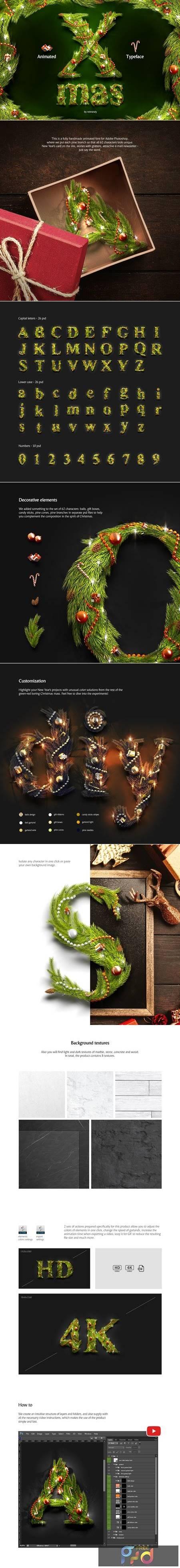 Christmas Animated Typeface 4164004 1