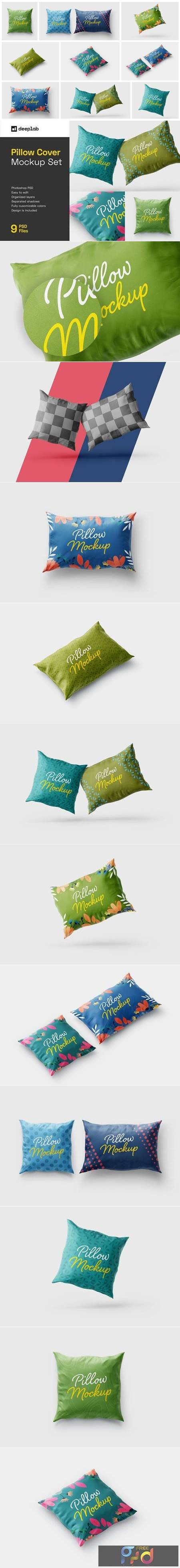 Pillow Cover Mockup Set - Textile 5715540 1