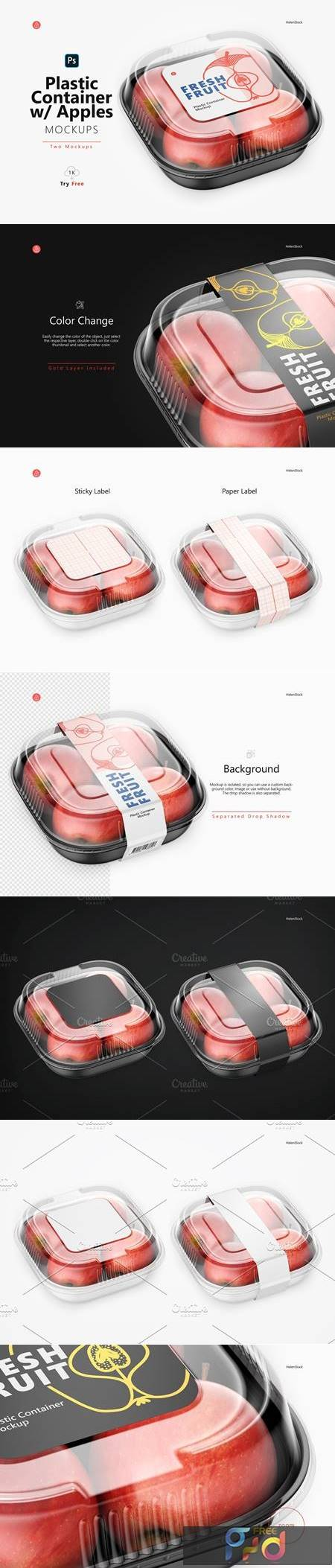 Plastic Container with Apples Mockup 5395363 1