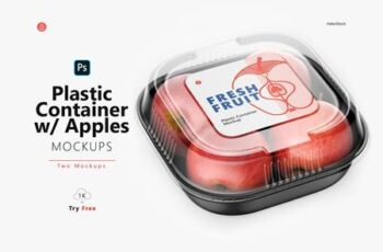 Plastic Container with Apples Mockup 5395363 14