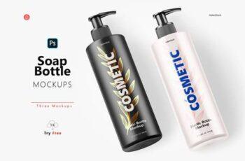 Soap Bottle Mockup - Halfside View 5444713 4