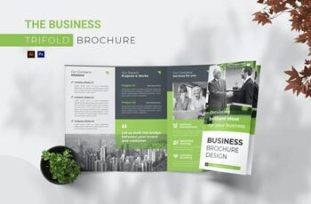 Business Trifold Brochure UJ7APY9 4