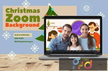 Christmas Zoom Background Template Q4P9Y8K 4