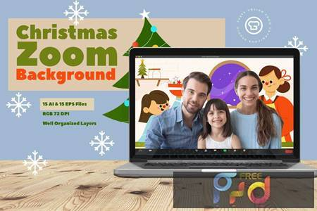 Christmas Zoom Background Template Q4P9Y8K 1