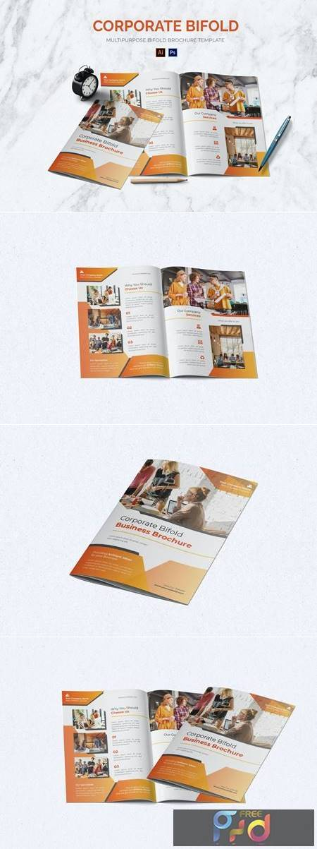 Corporate Bifold Brochure QEXS4HU 1