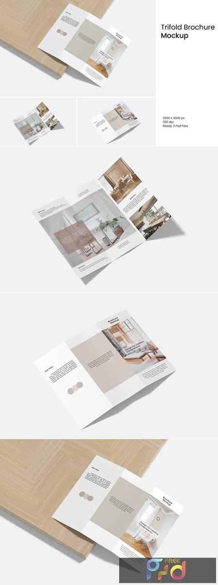 Trifold Brochure Mockup XDGX8JK 1