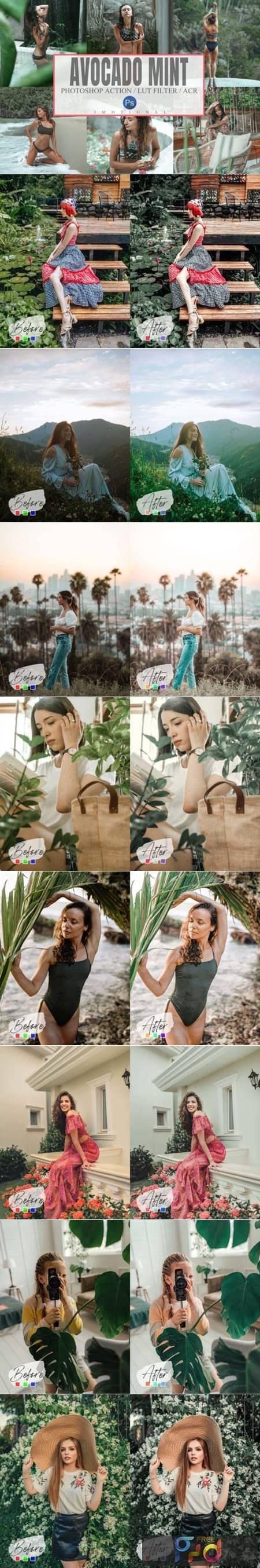 10 Avocado Mint Mood Photoshop Actions 6997450 1