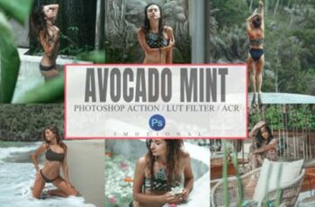 10 Avocado Mint Mood Photoshop Actions 6997450 9
