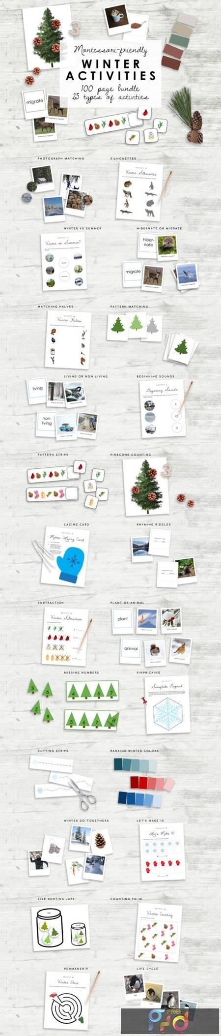Montessori Winter Bundle - Kindergarten 7175613 1