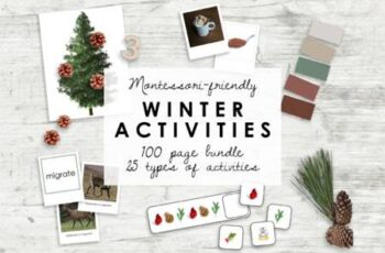 Montessori Winter Bundle - Kindergarten 7175613 4