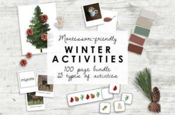 Montessori Winter Bundle - Kindergarten 7175613 3