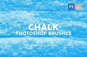 30 Chalk Texture Photoshop Stamp Brushes Vol 1 29575540 5