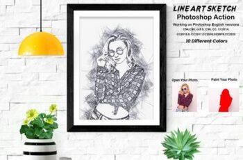 Line Art Sketch Photoshop Action 5709720 6