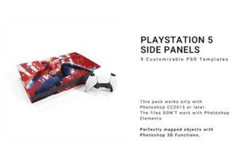 Sony Playstation 5 Side Panels Mockup 5680609 6