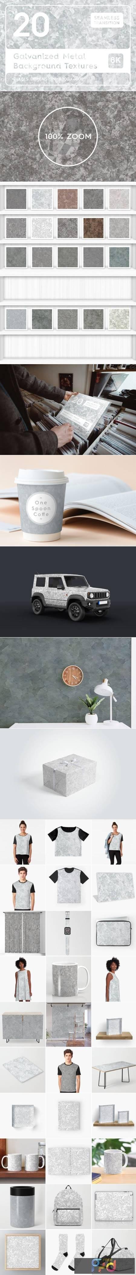 20 Galvanized Metal Background Textures 7159075 1