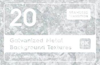 20 Galvanized Metal Background Textures 7159075 6