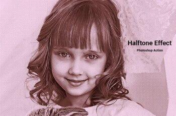 Halftone Effect Photoshop Action 5099129 4