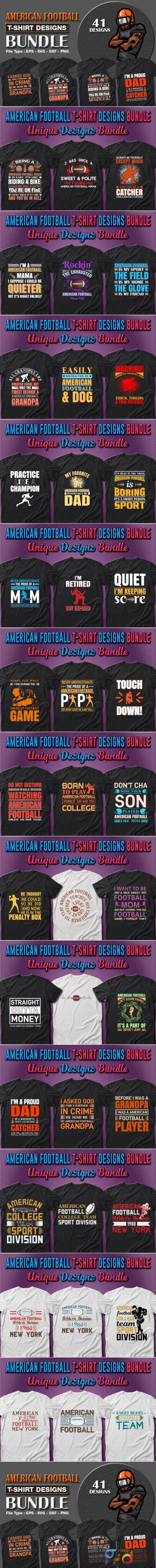 American Football T-shirt Designs Bundle 7157949 1