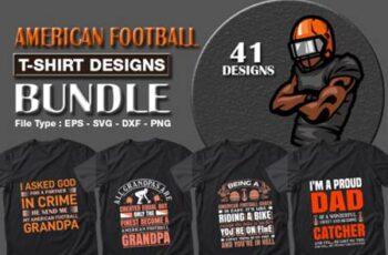 American Football T-shirt Designs Bundle 7157949 5
