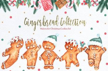Watercolor Gingerbread Collection 7077770 10