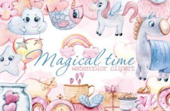 Watercolor Nursery Valentine Clipart 6975245 5