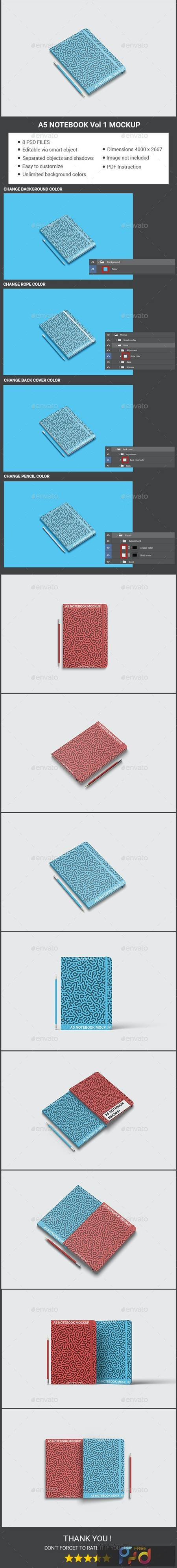 A5 Notebook Mockup Vol 1 - 29428396 1