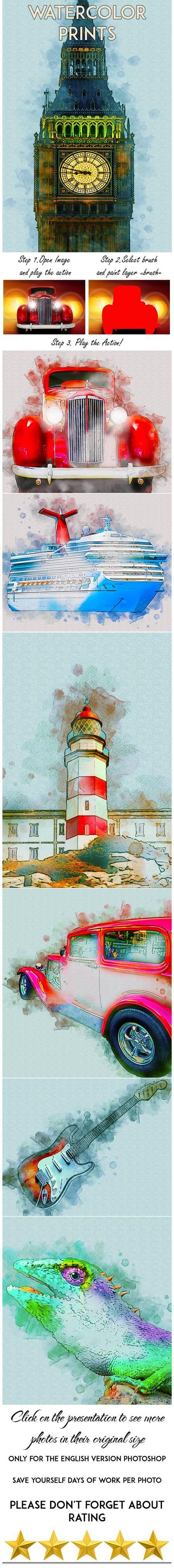 Watercolor Prints Photoshop Action 29424898 1